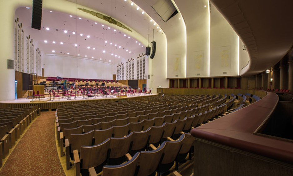 fish eye view of Liverpool Philharmonic Hall stall seats