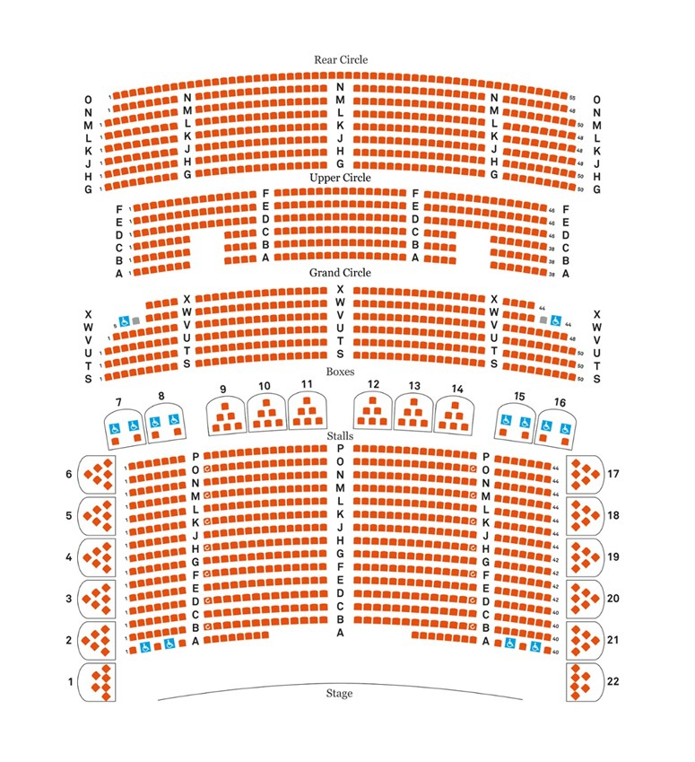 Seating plan of Liverpool Philharmonic Hall