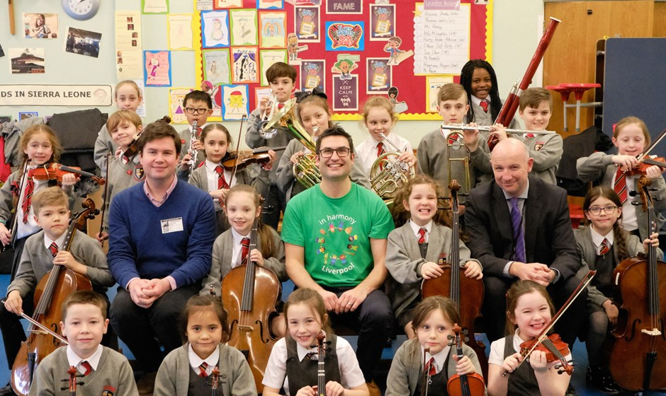 Dan Carden MP launches In Harmony Liverpool partnership with All Saints Catholic Primary School, Anfield